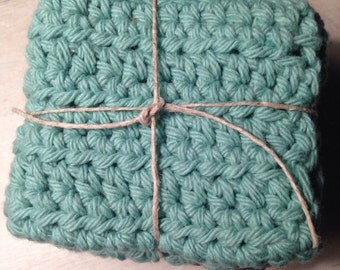 3 crocheted dishcloths