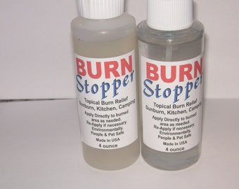 burn stopper liquid and liquid gel