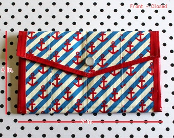 Ladies Duct Tape Wallet - Anchors