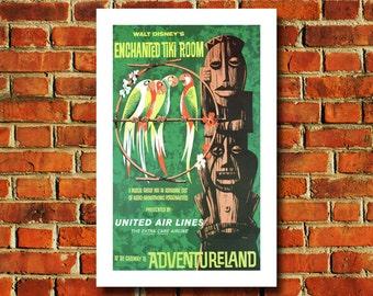 Disney Enchanted Tiki Room Poster - #0532