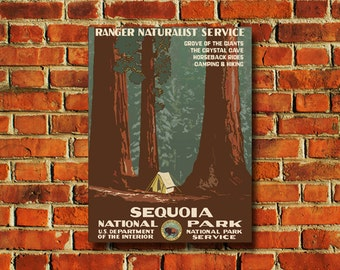 Sequoia National Park Poster - #0359