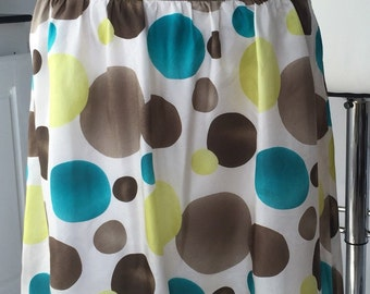 Reduced ESPRIT SILK SKIRT/Muted Bubbly Bubbles Skirt from Europe Collection/Made in  Germany Skirt