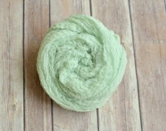 Newborn Cheesecloth Wrap (Mint Green)