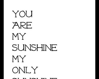 You Are My Sunshine My Only Sunshine Nursery Printable