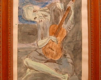 The Old Guitarist after Picasso