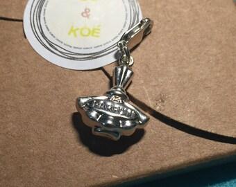 Silver charm for bracelet - perfume bottle