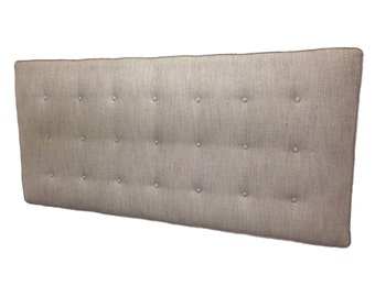 Bespoke, Buttoned Headboards, made to order, wall mounted, including fabric