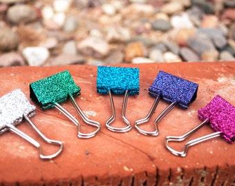 decorative office supplies. glitter binder clips decorative glam office supplies