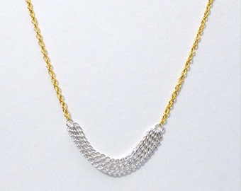 Two Tone Chains Necklace