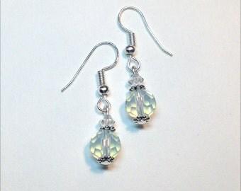 Opalite & Swarovski Crystal Earrings