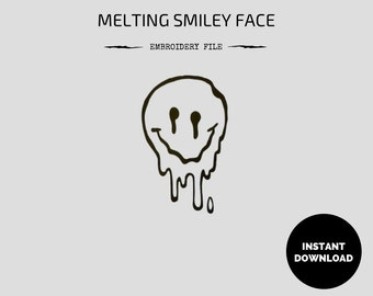 Melting Smiley Face Embroidery File