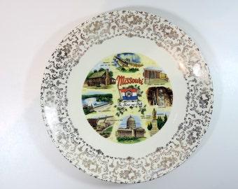 Vintage 50s era Missouri Souvenir Plate