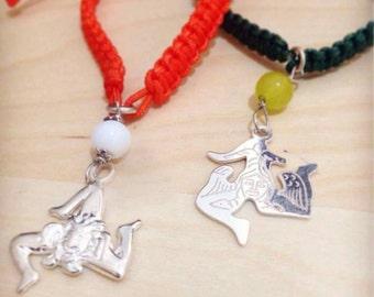 Couple bracelets with pendant