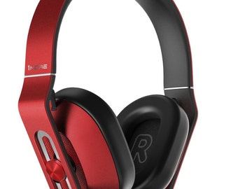 1More MK801 Over-Ear Headphones (Red) with In-Line Mic and Remote