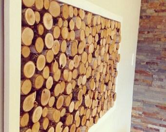 Panel decorative logs