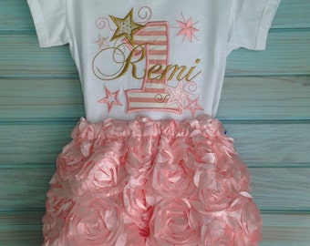 Satin ribbon flower shorts with elastic waist and legs by That's Sew Mimi