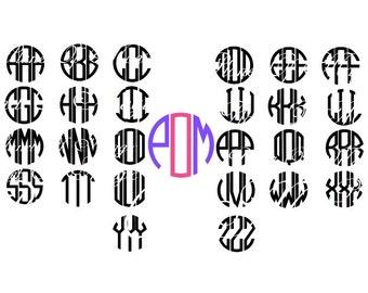 Monogram Font Svg File, Circle Font SVG, Monogram EPS File, Letter Cutting file, Monogram DXF, Digital File, Cricut, Silhouette Font