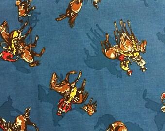 Blue Cowboy Fabric