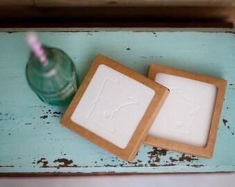 Handmade Letterpress Coasters