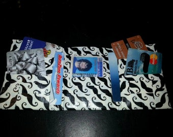 Mustache Duct Tape Wallet
