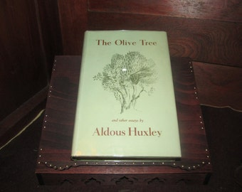 The Olive Tree and other essays by Aldous Huxley 1936 Chatto & Windus RARE UNREAD 1ST
