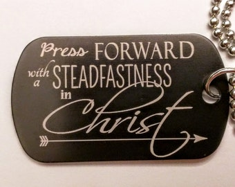 LDS Young Women Theme 2016, Laser Engraved Dog Tag