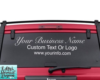 Business Decals Etsy - Custom car window decals business