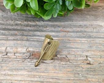 Brass Arrow Ear Cuff