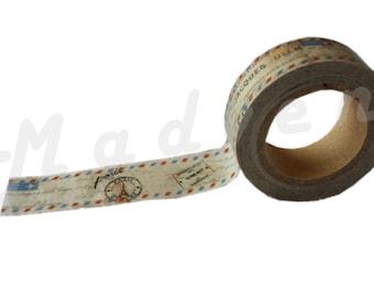 A masking tape 10 m / washi tape (adhesive tape) airmail 1.5 cm x 10 m
