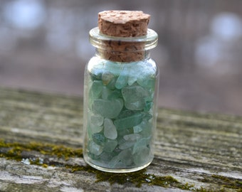 Green Aventurine Crystal Bottle