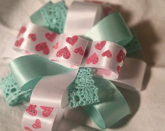 "3.5"" Heart Boutique Stacked Hair Bow"