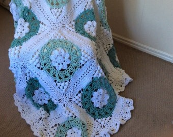 Stunning Crochet Cathedral Square Blanket.