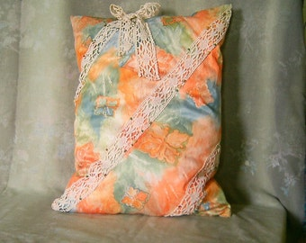 Large satin cushion