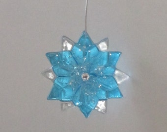 fused glass suncatcher, ornament