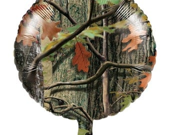 """HUNTING CAMO 18"""" Mylar BALLOON Camouflage Birthday Party Supplies Decoration centerpiece photo props"""
