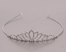 Childrens girls kids tiara crown headband prom pageant christening party headwear hair accessory special occasion hair tiara