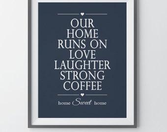 Coffee Wall Decor Coffee Print Kitchen Wall Decor Coffee Quotes Kitchen Wall Art Print Home Quotes Housewarming Gift Coffee Lovers Gift