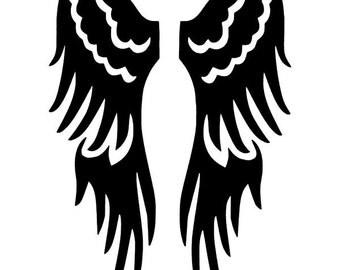 Folded Angel Wings Vinyl Decal