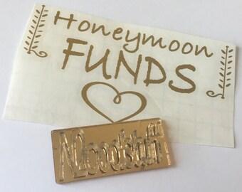Honeymoon funds decals /honeymoon gifts