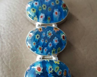 Blue Murano Glass Pendant!