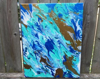 Abstract Fluid Acrylic-- Let your gold shine through