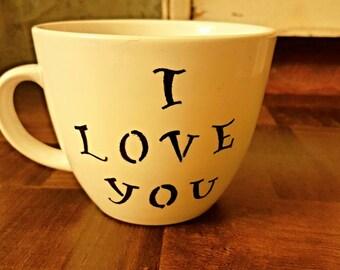 I love you coffee mug perfect valentines day gift!