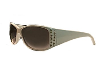 White Rhinestone Sunglasses