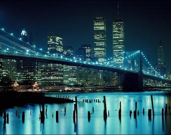 Brooklyn Bridge and World Trade Center Cityscape