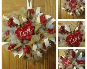Shabby Chic Valentine Wreath