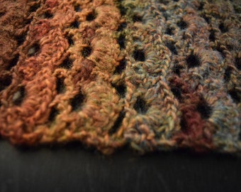 Earthy Scalloped Scarf