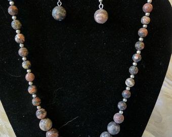 Leopardskin Jasper necklace set