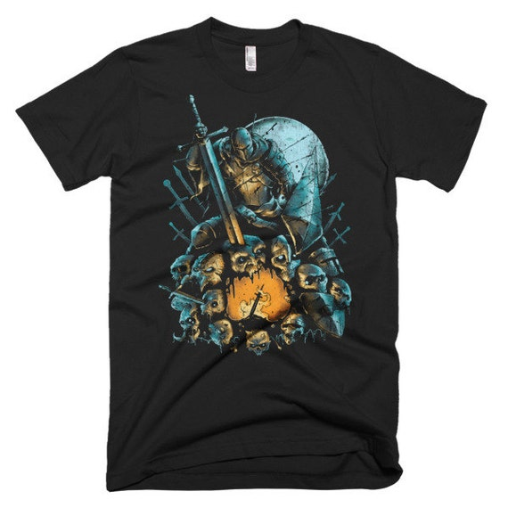 Fallen Knight Dark Souls T-shirt by Brainteeser on Etsy