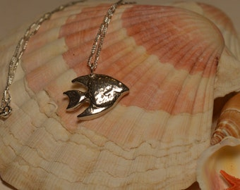 Handmade Silver Fish Necklace