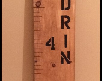 Wooden Growth Chart Ruler